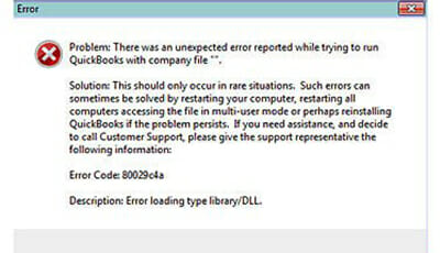quickbooks error 80029c4a