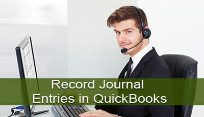 record journal entries in quickbooks