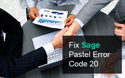 How to Fix Sage Pastel Error Code 20