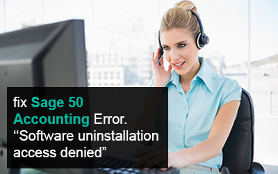 Sage 50 Accounting uninstallation access denied