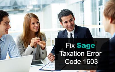 How to fix Sage Taxation Error 1603